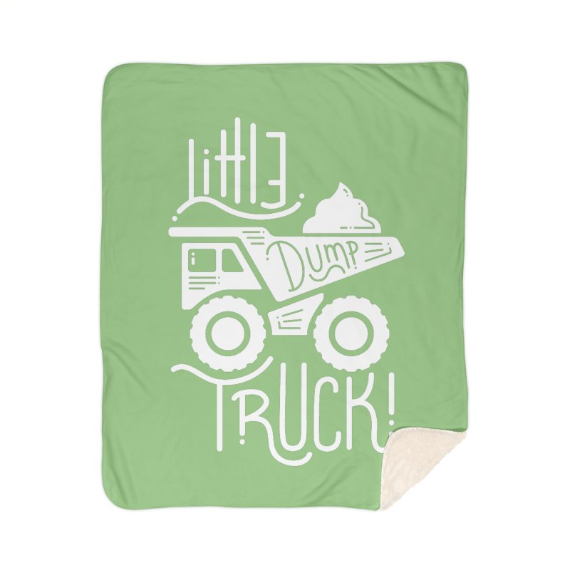 Little Dump Truck Home Sherpa Blanket Blanket by Yargyle's Artist Shop