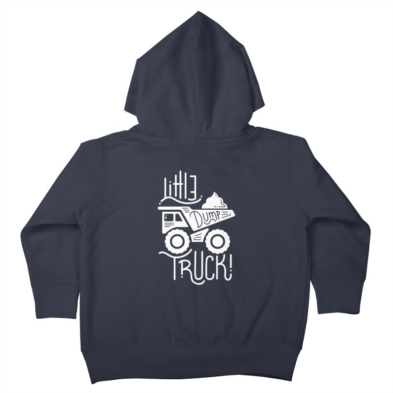 Little Dump Truck Kids Toddler Zip-Up Hoody by Yargyle's Artist Shop