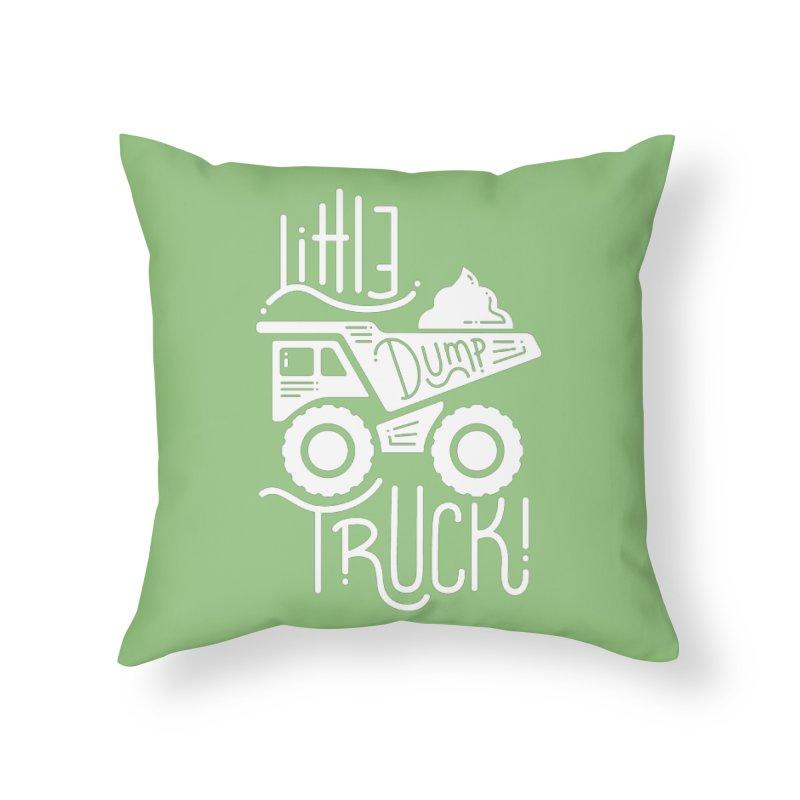 Little Dump Truck Home Throw Pillow by Yargyle's Artist Shop
