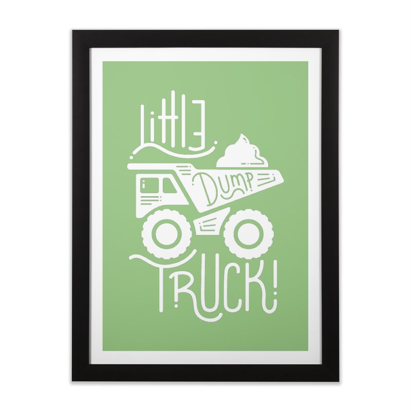 Little Dump Truck Home Framed Fine Art Print by Yargyle's Artist Shop