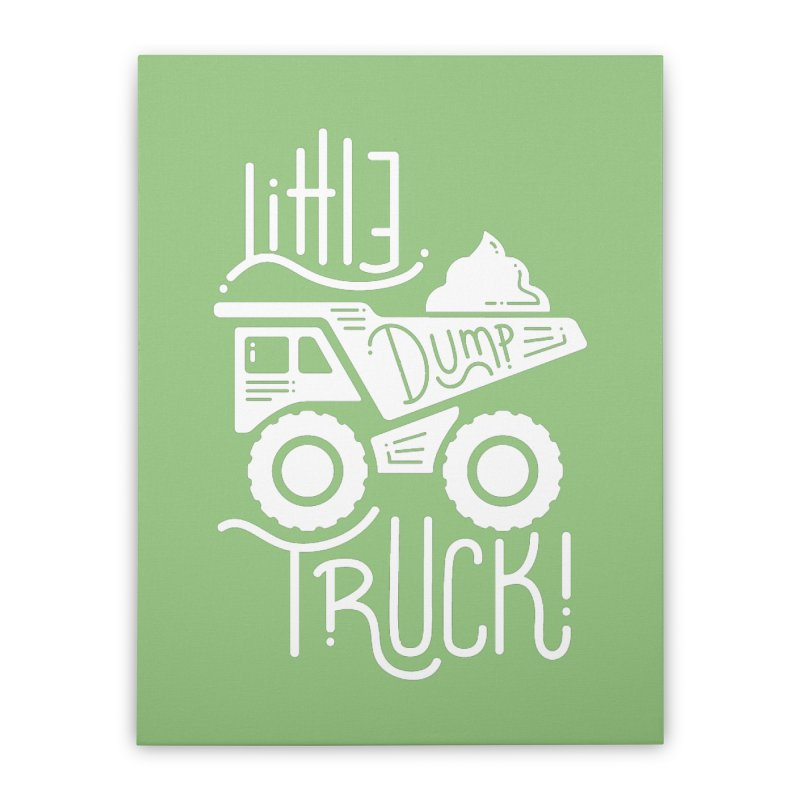 Little Dump Truck Home Stretched Canvas by Yargyle's Artist Shop