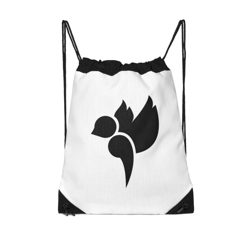 Not a Sparrow Falls Accessories Drawstring Bag Bag by Yargyle's Artist Shop