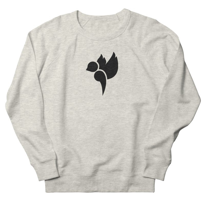 Not a Sparrow Falls Women's French Terry Sweatshirt by Yargyle's Artist Shop