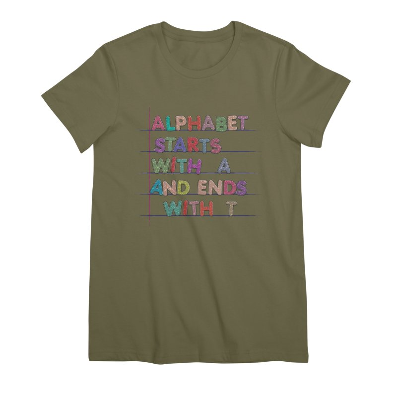 Alphabet Trivia Women's Premium T-Shirt by Half Moon Giraffe