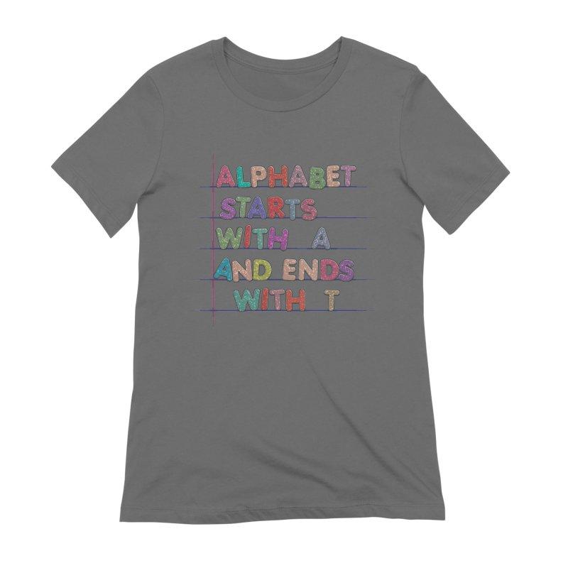 Alphabet Trivia Women's T-Shirt by Half Moon Giraffe