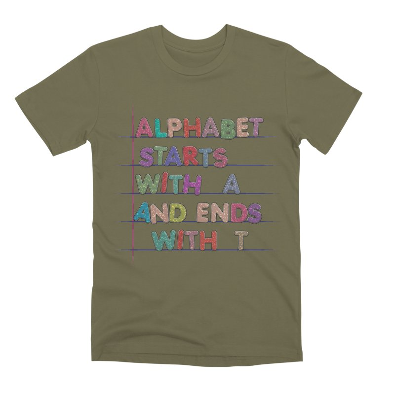 Alphabet Trivia Men's Premium T-Shirt by Half Moon Giraffe