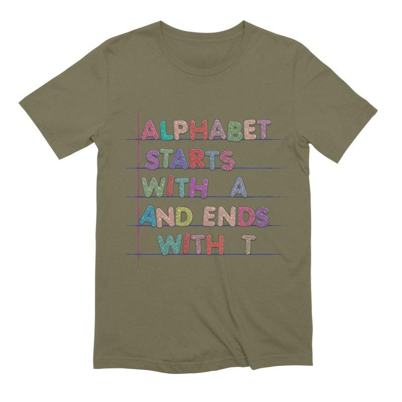 Alphabet Trivia Men's Extra Soft T-Shirt by Half Moon Giraffe