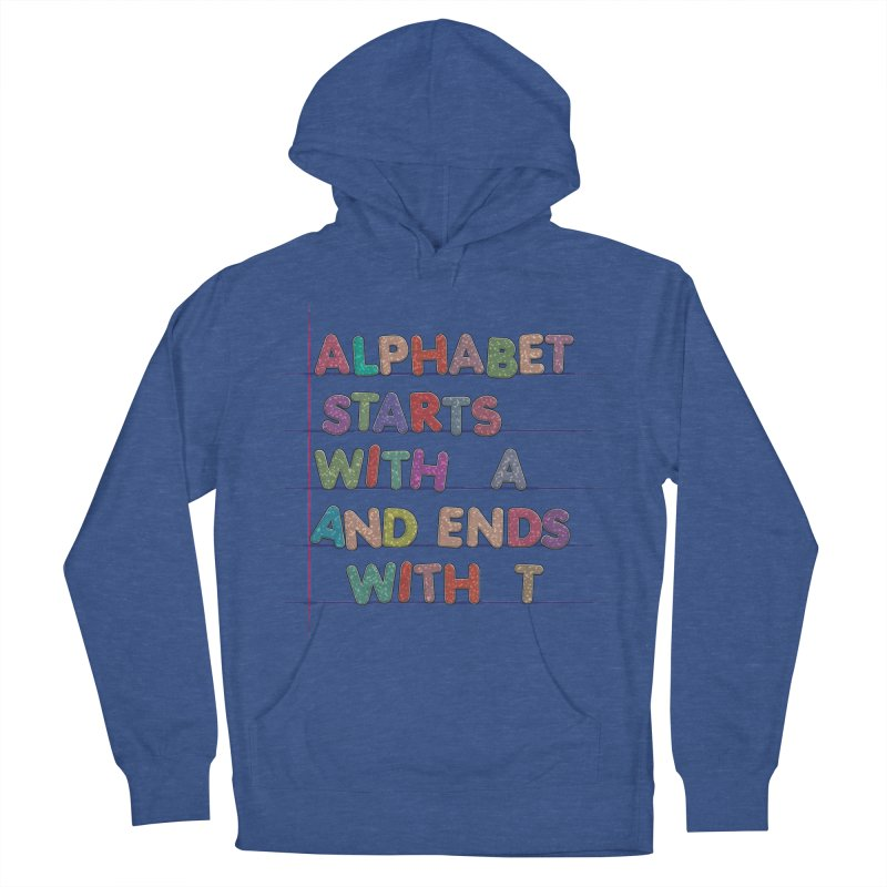 Alphabet Trivia Women's French Terry Pullover Hoody by Half Moon Giraffe