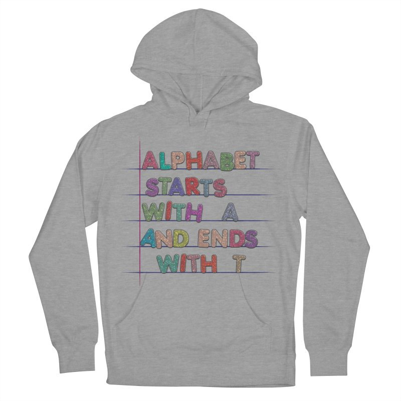 Alphabet Trivia Men's French Terry Pullover Hoody by Half Moon Giraffe
