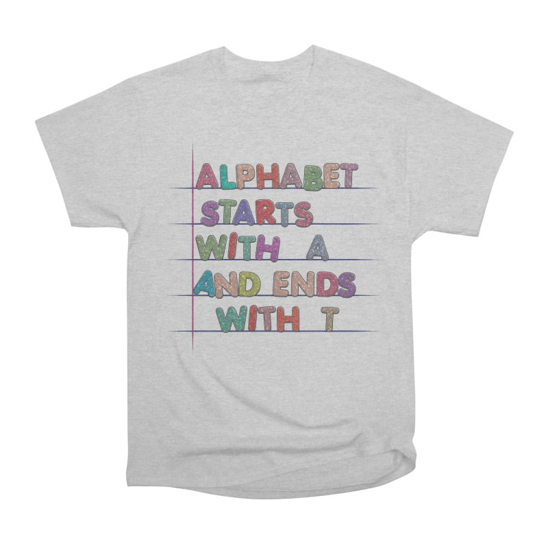 Alphabet Trivia Men's Heavyweight T-Shirt by Half Moon Giraffe