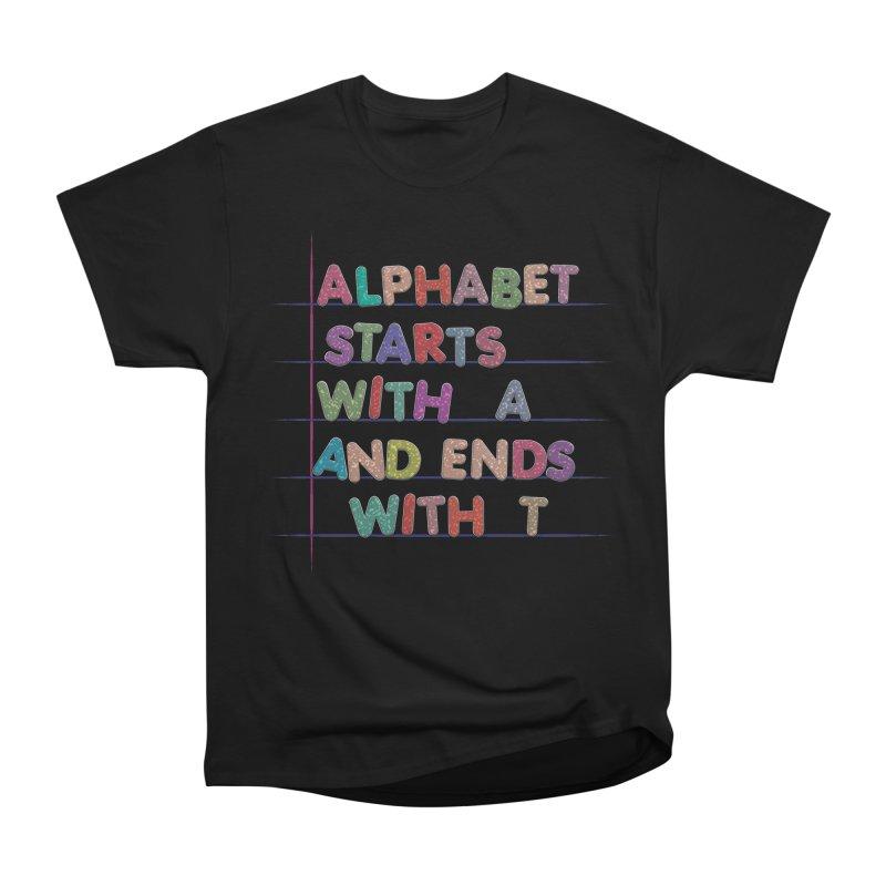 Alphabet Trivia Women's Heavyweight Unisex T-Shirt by Half Moon Giraffe