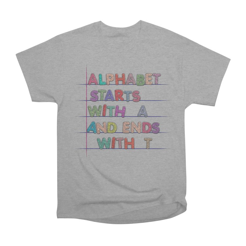 Alphabet Trivia Women's Heavyweight Unisex T-Shirt by Half Moon Giraffe