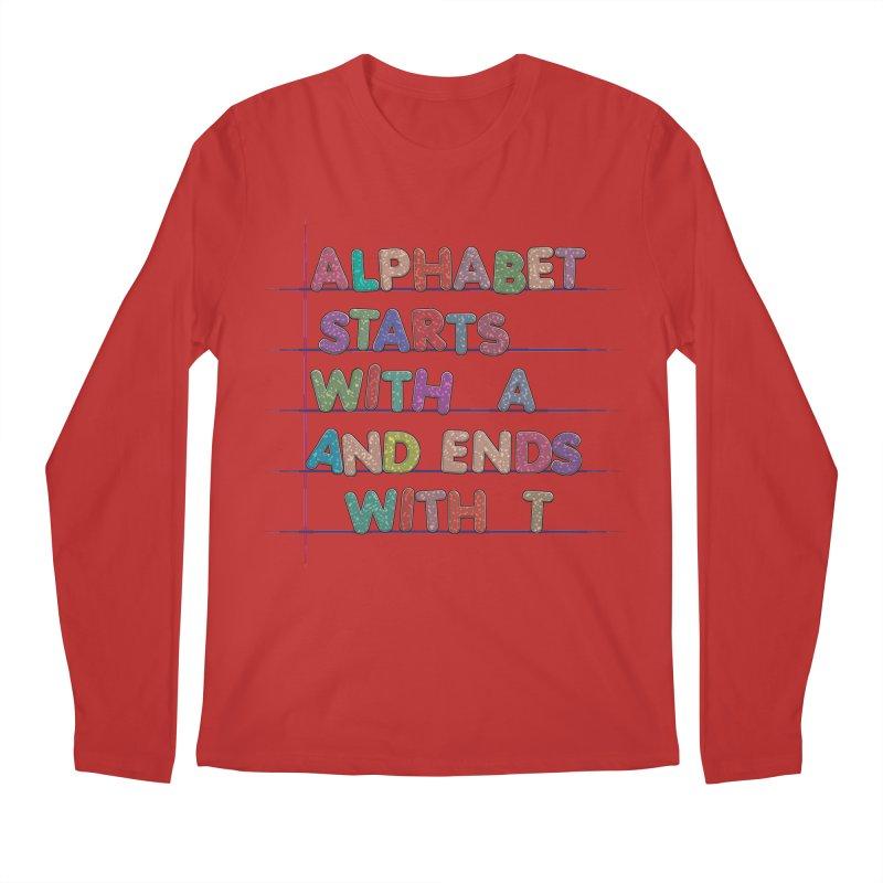 Alphabet Trivia Men's Regular Longsleeve T-Shirt by Half Moon Giraffe