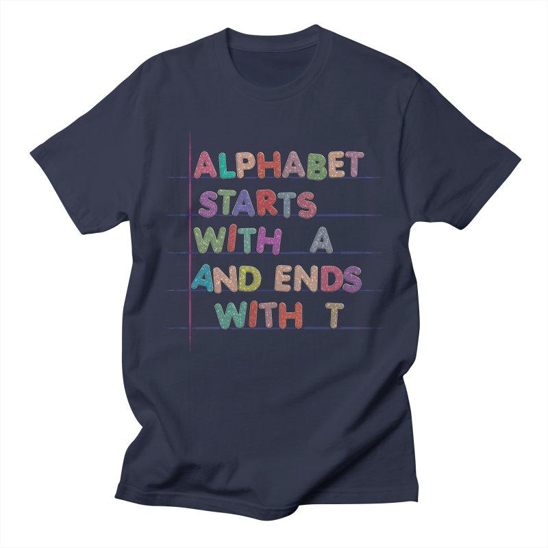 Alphabet Trivia Women's Regular Unisex T-Shirt by Half Moon Giraffe