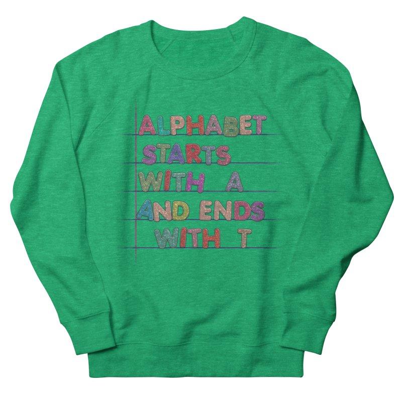 Alphabet Trivia Women's French Terry Sweatshirt by Half Moon Giraffe