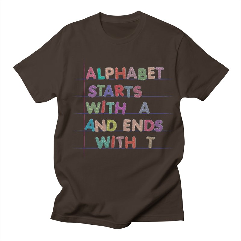 Alphabet Trivia Men's Regular T-Shirt by Half Moon Giraffe