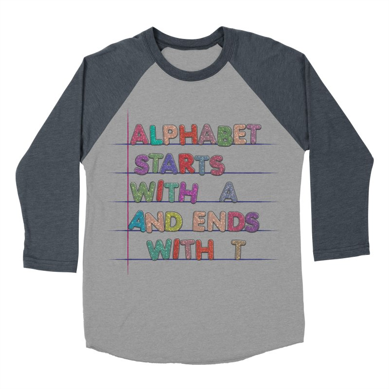 Alphabet Trivia Women's Baseball Triblend Longsleeve T-Shirt by Half Moon Giraffe