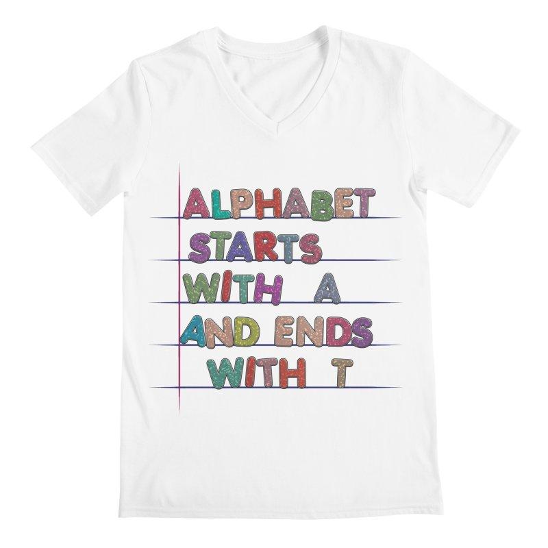 Alphabet Trivia Men's V-Neck by Half Moon Giraffe