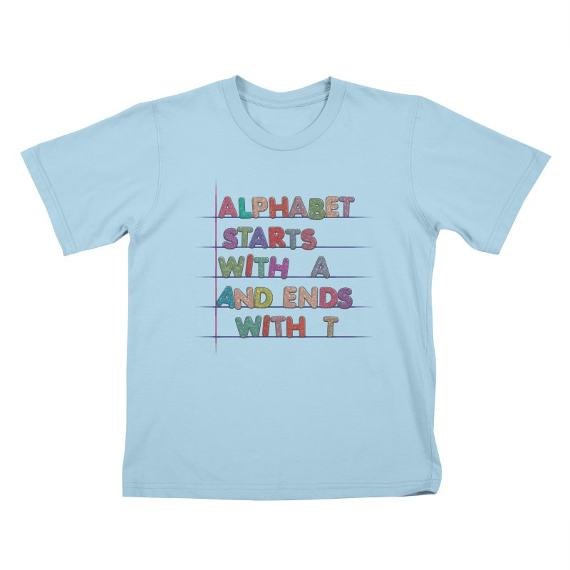 Alphabet Trivia Kids T-Shirt by Half Moon Giraffe
