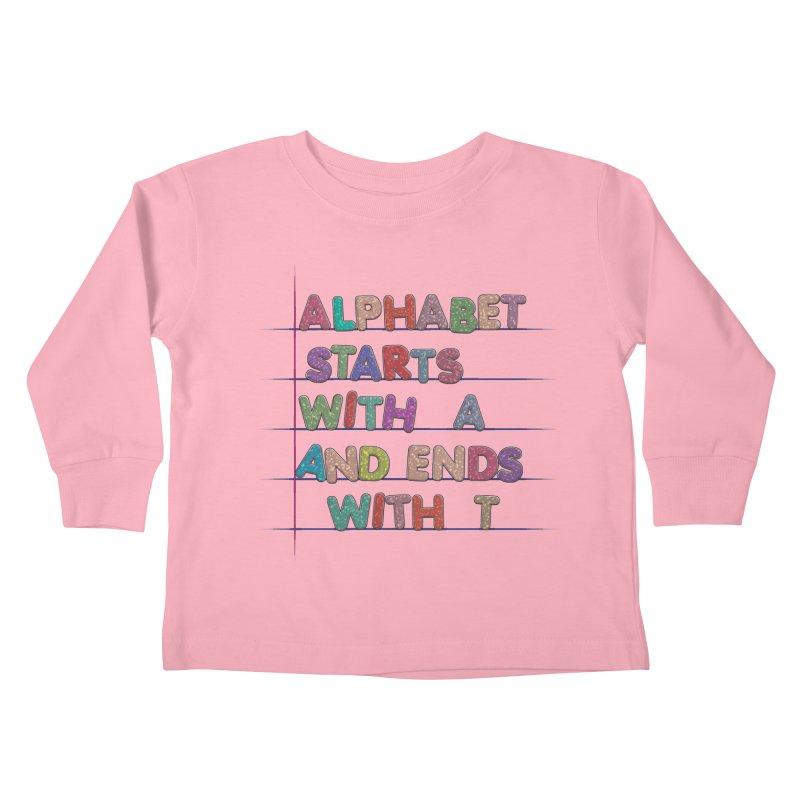 Alphabet Trivia Kids Toddler Longsleeve T-Shirt by Half Moon Giraffe