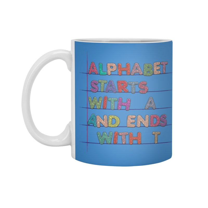 Alphabet Trivia Accessories Standard Mug by Half Moon Giraffe