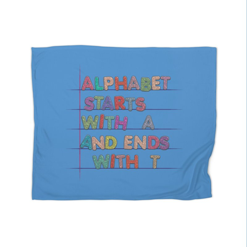 Alphabet Trivia Home Fleece Blanket Blanket by Half Moon Giraffe