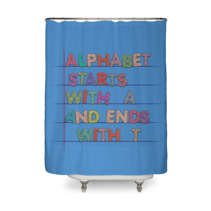 Alphabet Trivia Home Shower Curtain by Half Moon Giraffe