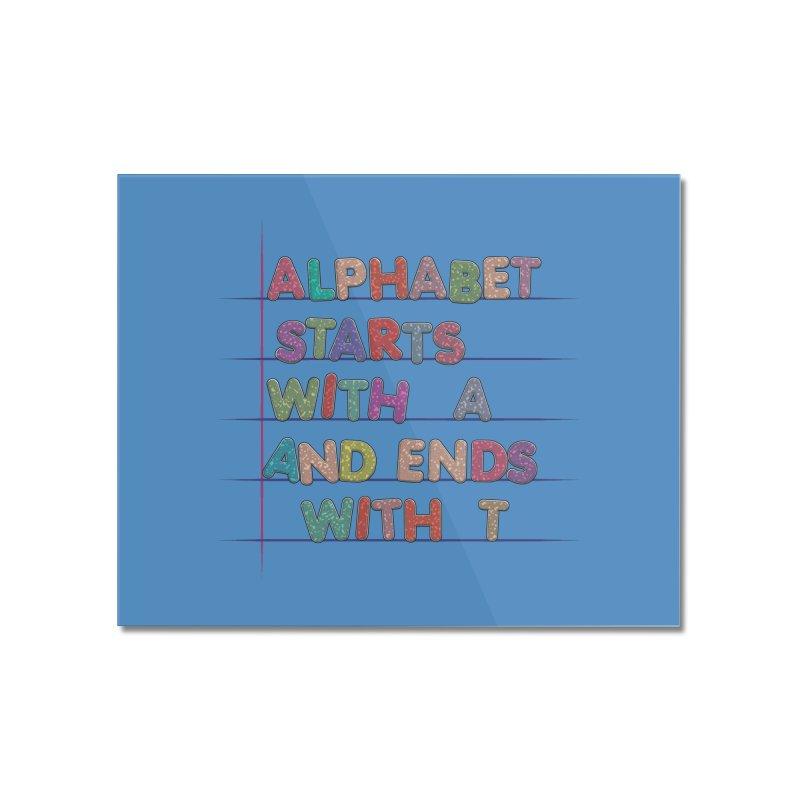 Alphabet Trivia Home Mounted Acrylic Print by Half Moon Giraffe