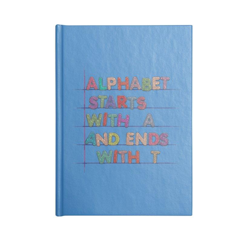 Alphabet Trivia Accessories Blank Journal Notebook by Half Moon Giraffe