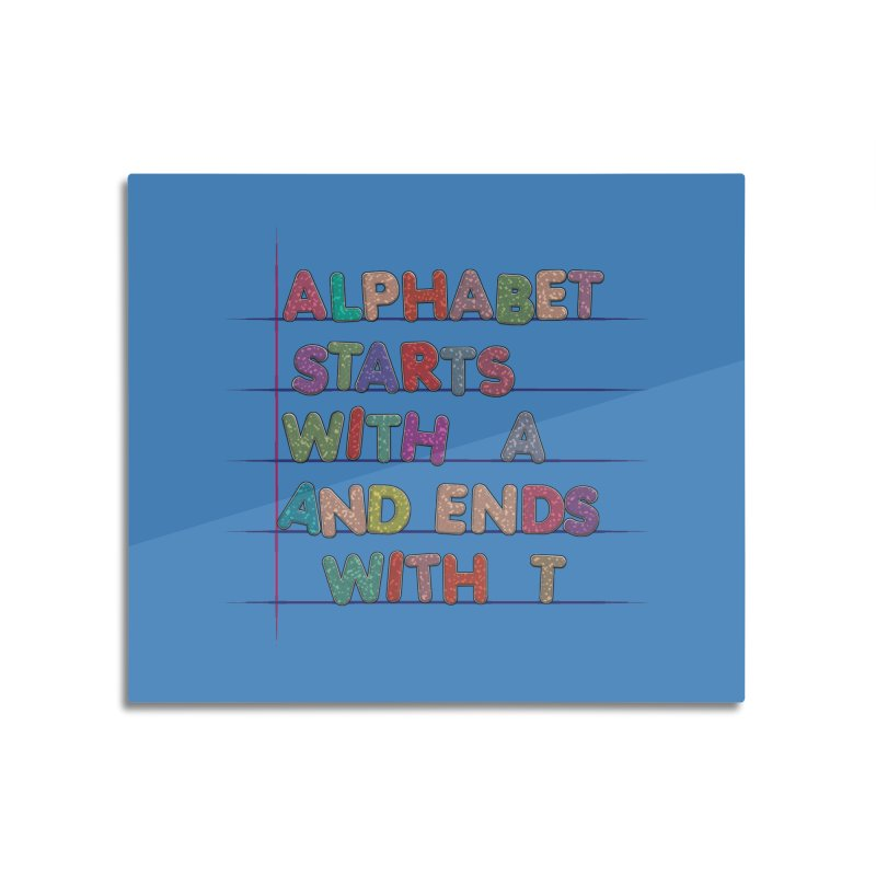 Alphabet Trivia Home Mounted Acrylic Print by Half Moon Giraffe