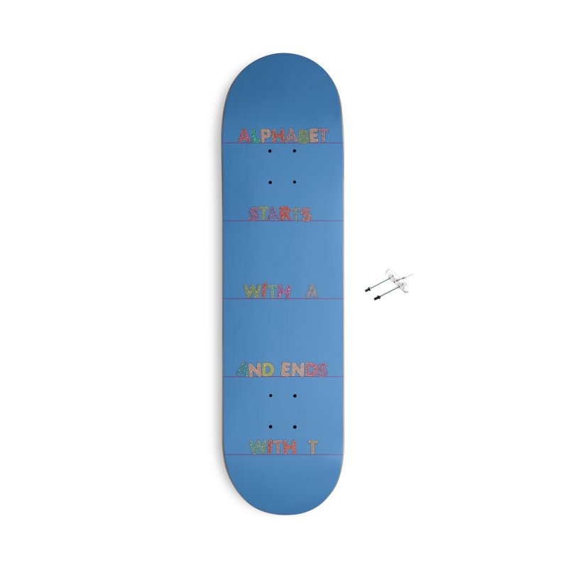 Alphabet Trivia Accessories With Hanging Hardware Skateboard by Half Moon Giraffe