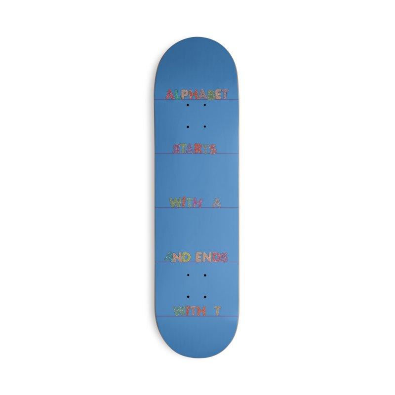 Alphabet Trivia Accessories Deck Only Skateboard by Half Moon Giraffe