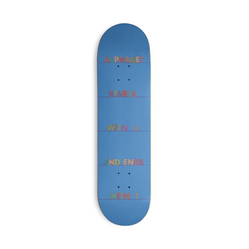 Alphabet Trivia Accessories Skateboard by Half Moon Giraffe