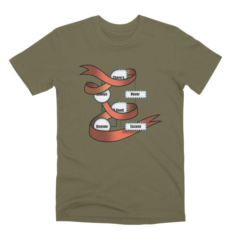 Reason Excuse Men's Premium T-Shirt by Half Moon Giraffe