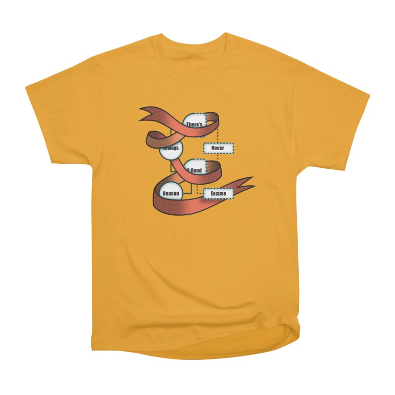 Reason Excuse Men's Heavyweight T-Shirt by Half Moon Giraffe