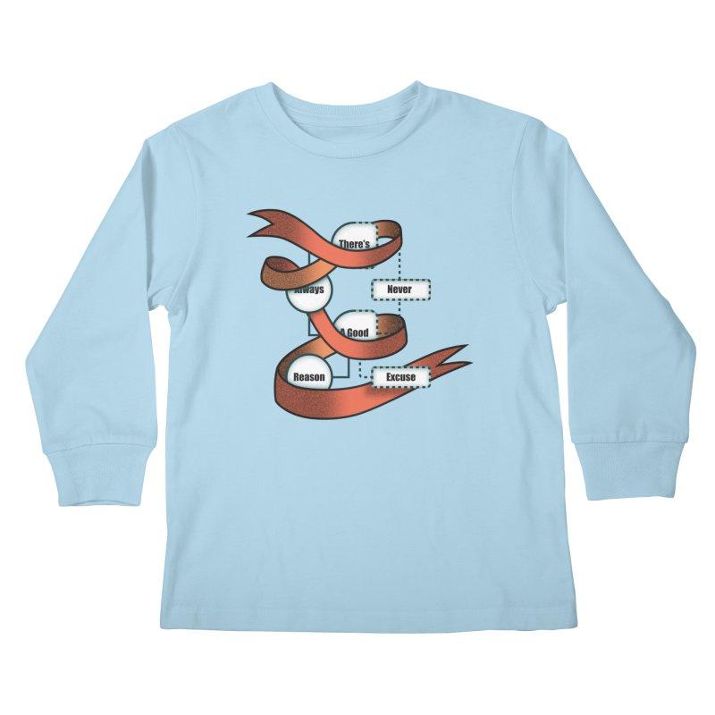 Reason Excuse Kids Longsleeve T-Shirt by Half Moon Giraffe
