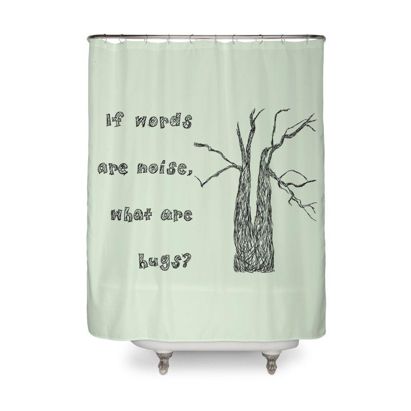 Free Hugs Home Shower Curtain by Half Moon Giraffe