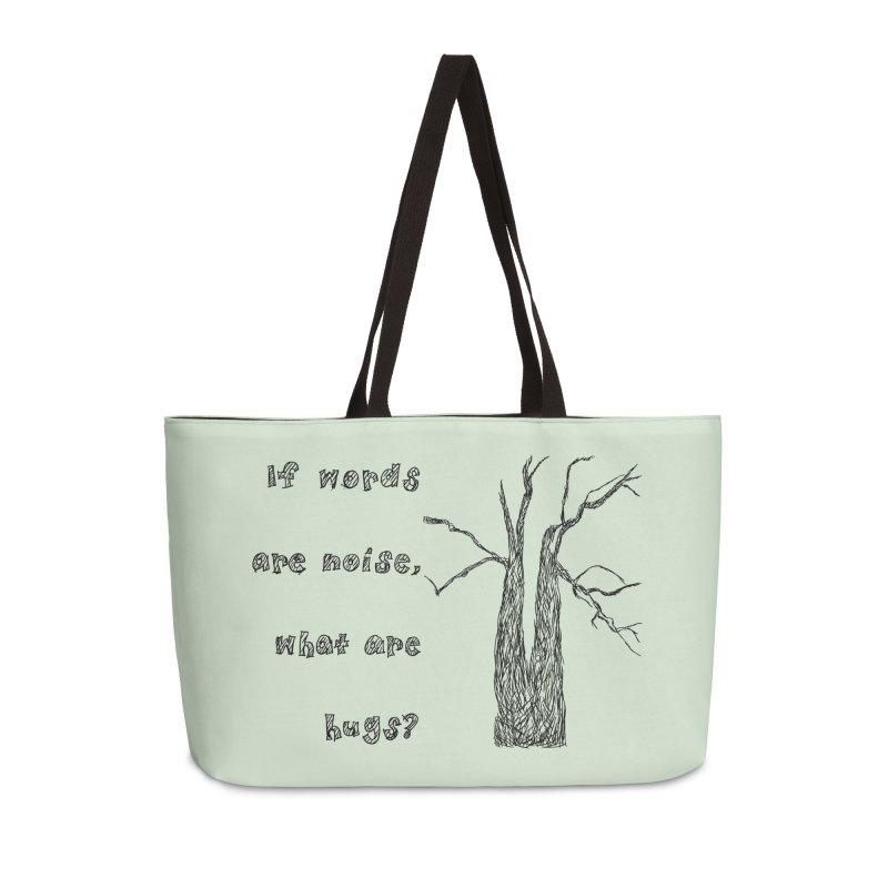 Free Hugs Accessories Weekender Bag Bag by Half Moon Giraffe