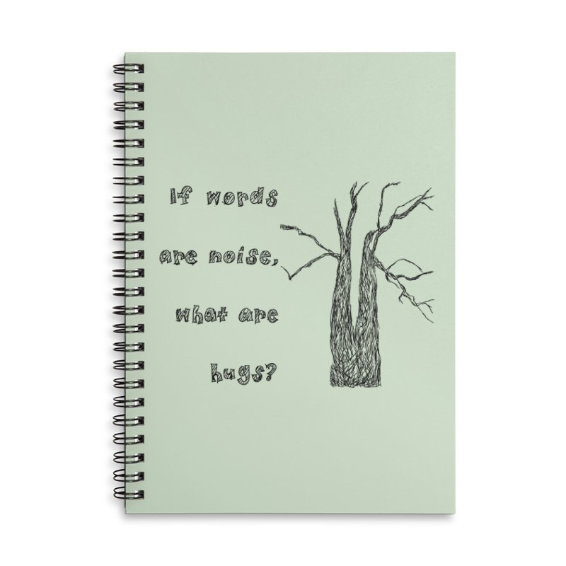 Free Hugs Accessories Notebook by Half Moon Giraffe
