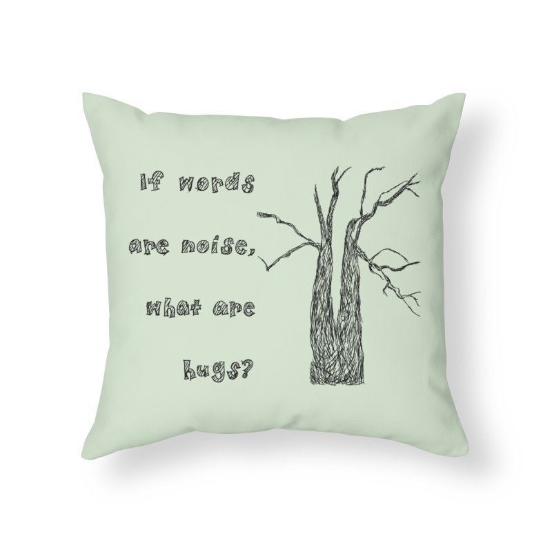 Free Hugs Home Throw Pillow by Half Moon Giraffe