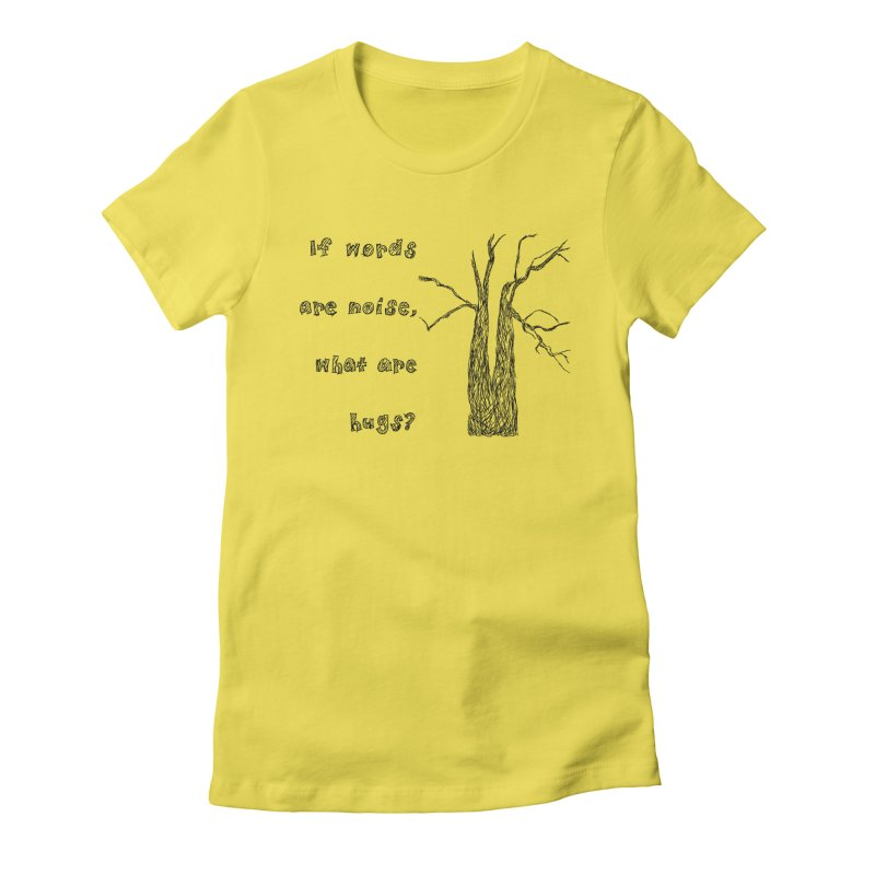Free Hugs Women's Fitted T-Shirt by Half Moon Giraffe