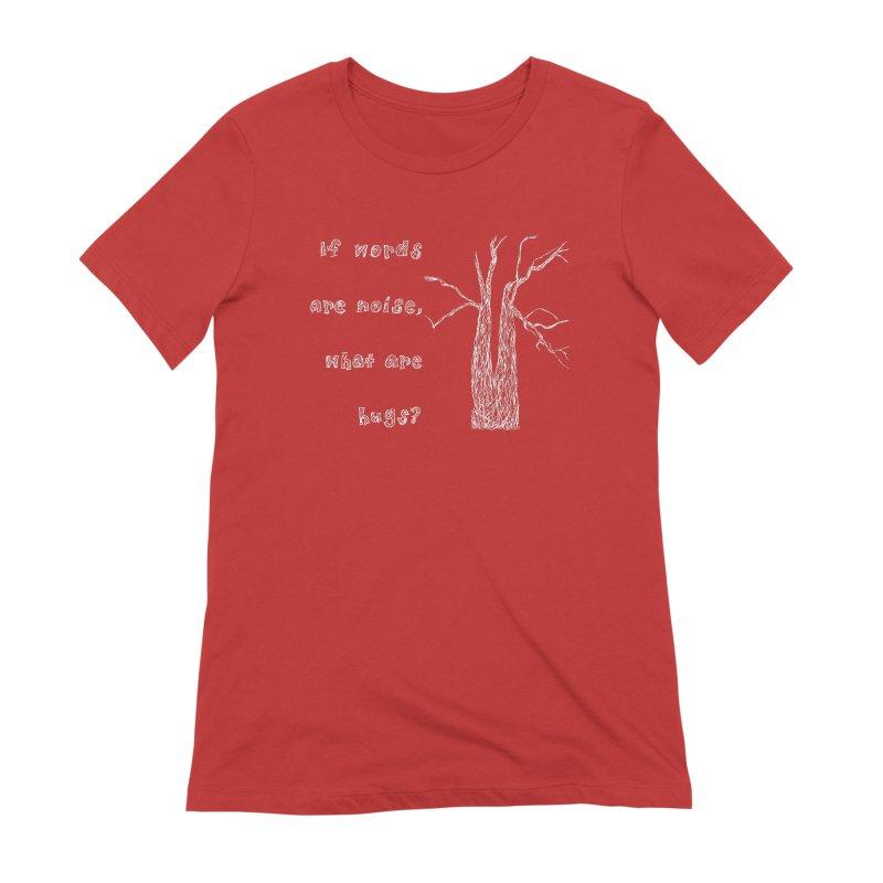 Free Hugs White Women's Extra Soft T-Shirt by Half Moon Giraffe