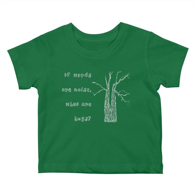 Free Hugs White Kids Baby T-Shirt by Half Moon Giraffe