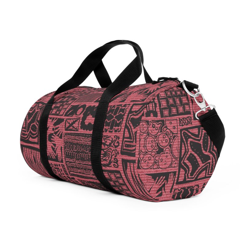 Griddish Accessories Duffel Bag Bag by Half Moon Giraffe