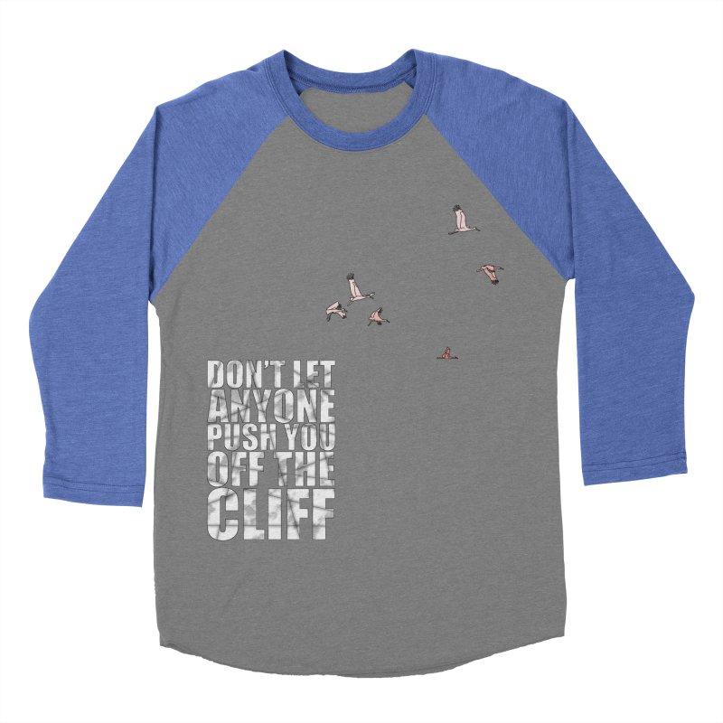 Jump Men's Baseball Triblend T-Shirt by Half Moon Giraffe