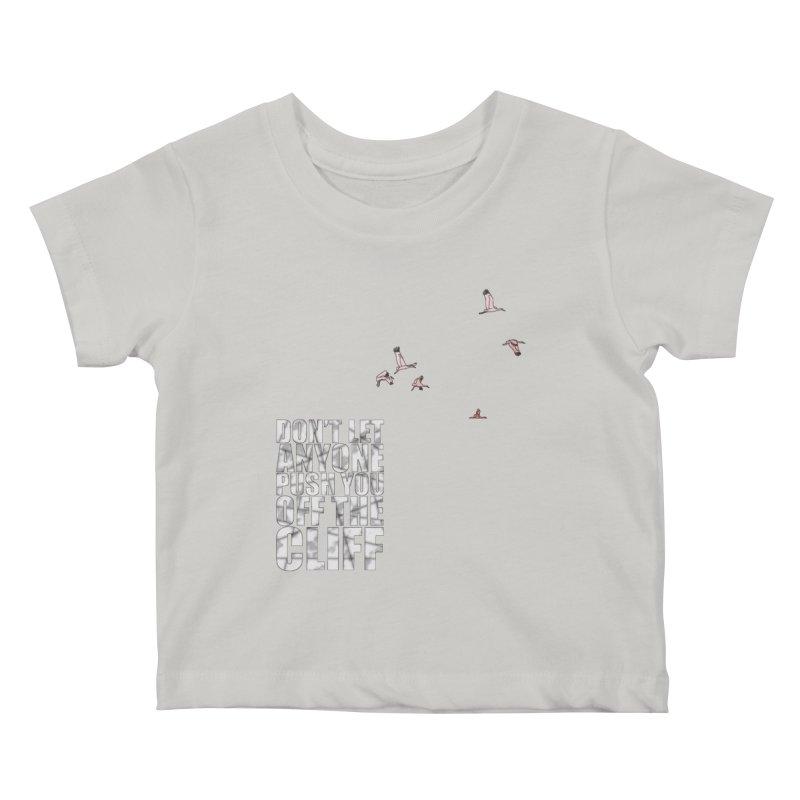 Jump Kids Baby T-Shirt by Half Moon Giraffe
