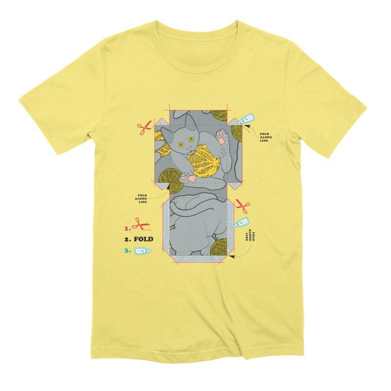 A Cat Above Men's T-Shirt by Half Moon Giraffe