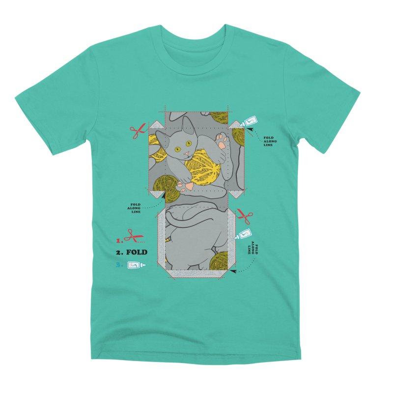 A Cat Above Men's Premium T-Shirt by Half Moon Giraffe