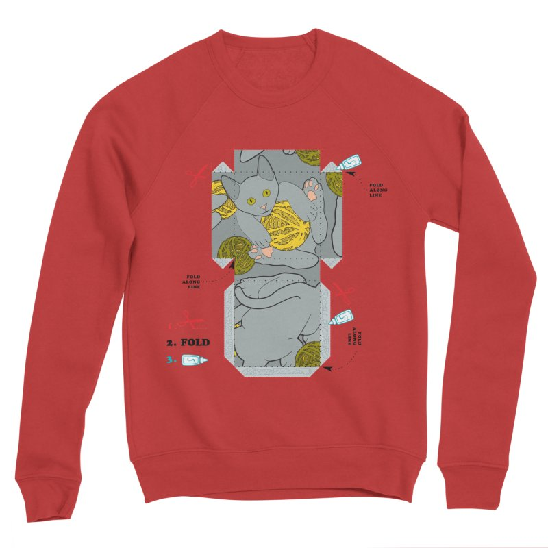 A Cat Above Men's Sponge Fleece Sweatshirt by Half Moon Giraffe