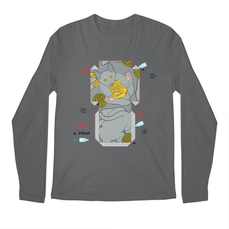 A Cat Above Men's Longsleeve T-Shirt by Half Moon Giraffe